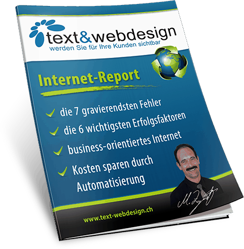 Internet-Report - marketing orientiertes Internet - text & webdesign GmbH